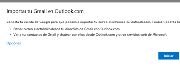 importar gmail desde outlook
