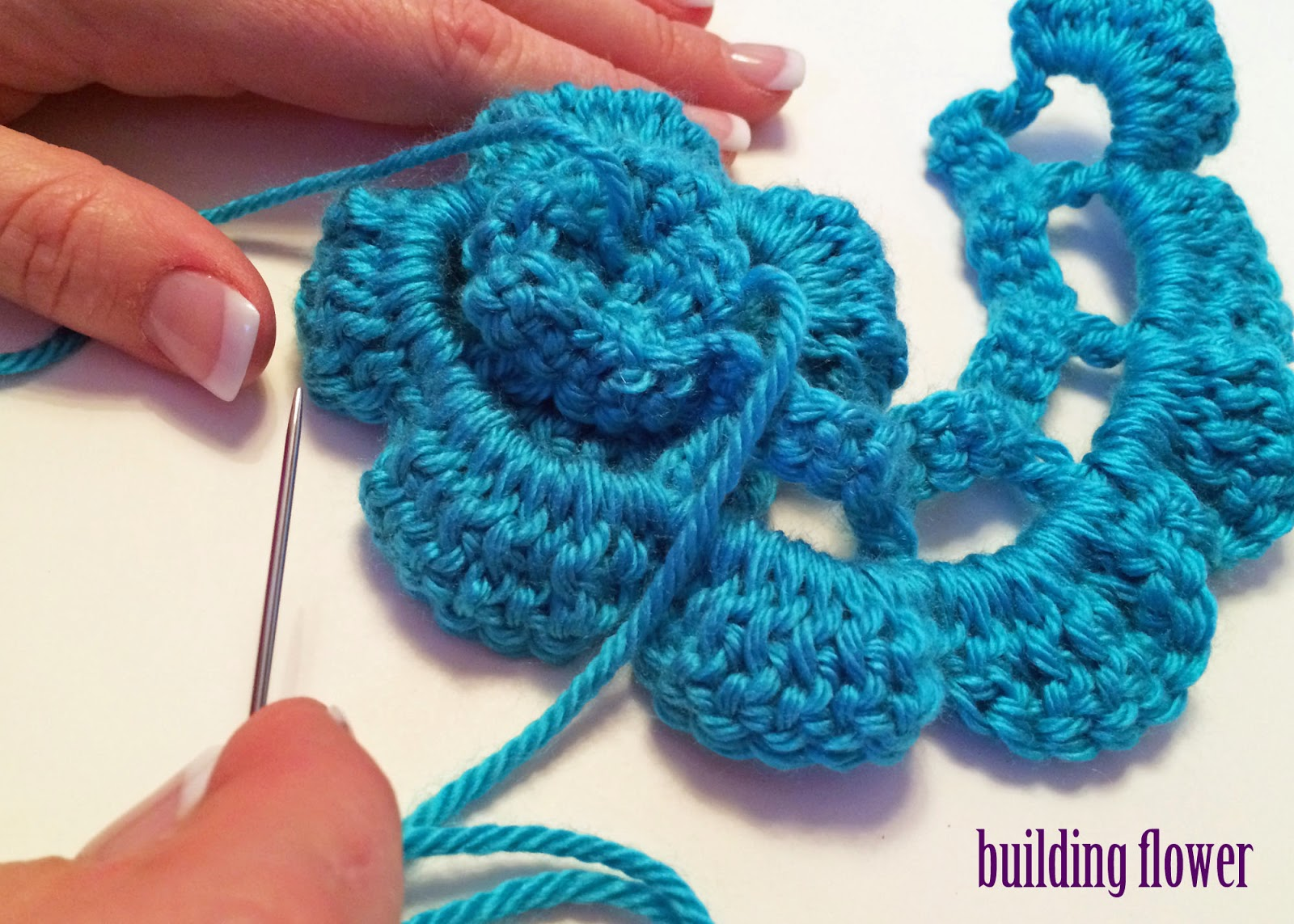 Basic Crochet Flower Patterns Free : Crochet Rochelle: Double Crochet Flower