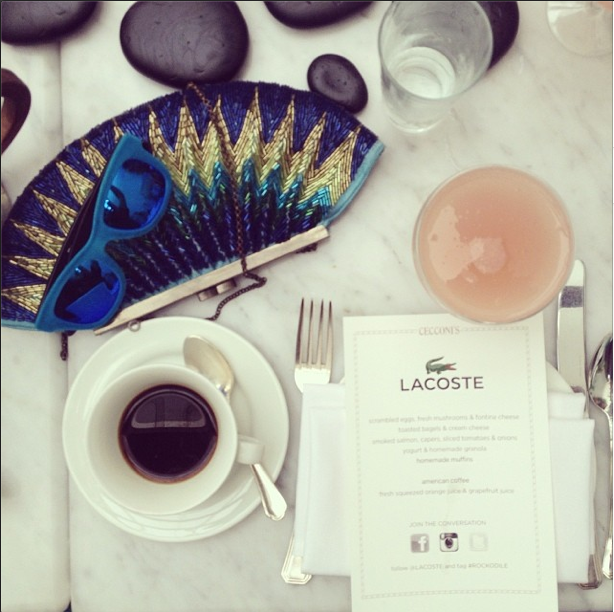 lacoste, blogger, brunch, lacoste brunch, art basel, 2013, soho beach house, style by lynsee, fashion, art, style