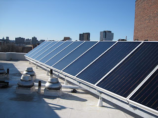 solar thermal on same roof in Boston as solar PV