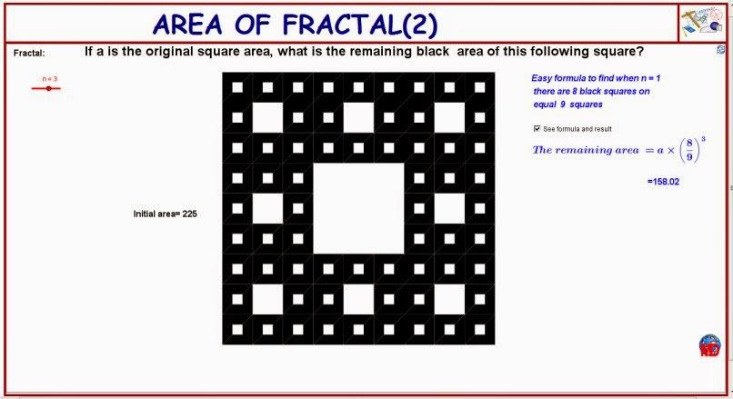 http://dmentrard.free.fr/GEOGEBRA/Maths/Nouveautes/4.25/fractalarea2MD.html