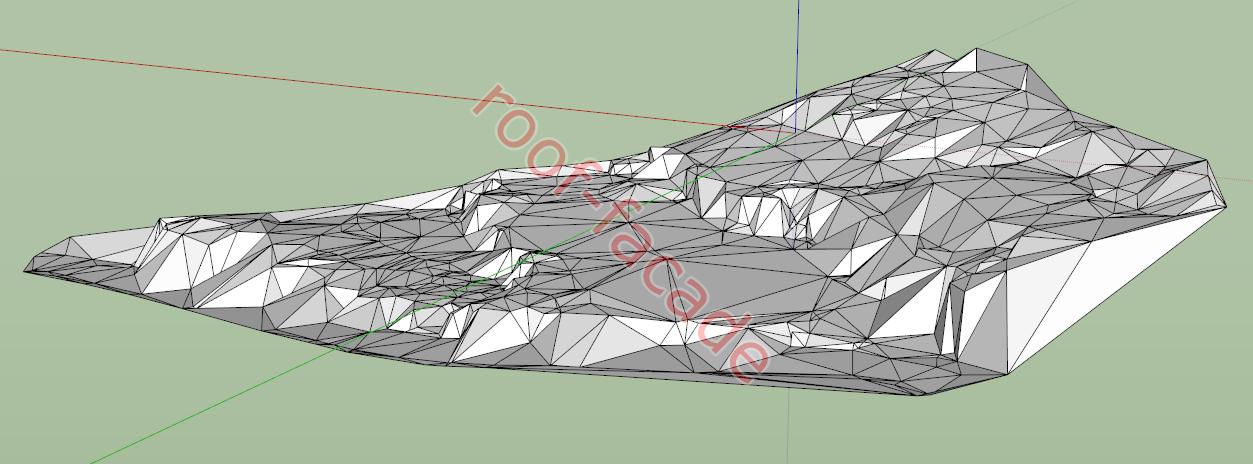 модель ландшафта SketchUp