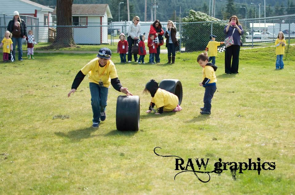 M&M racecar party tire racing