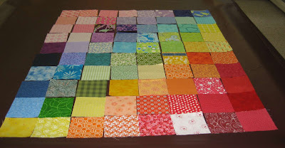Rainbow Swap Squares ~ So Colorful!