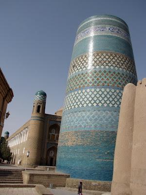 Uzbekistán, Khiva - Minarete Kalta Minor