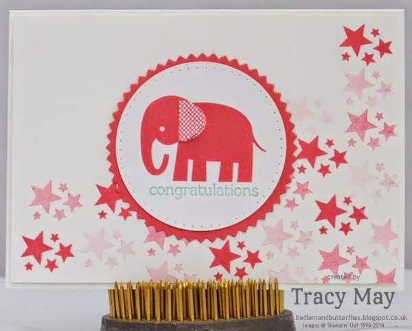 stampin up uk independent demonstrator Tracy May zoo babies baby girl card making ideas