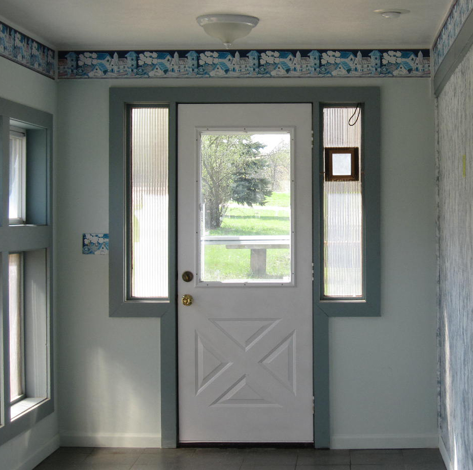 Pumpkin Spice Entry Door | The Wolven House Project