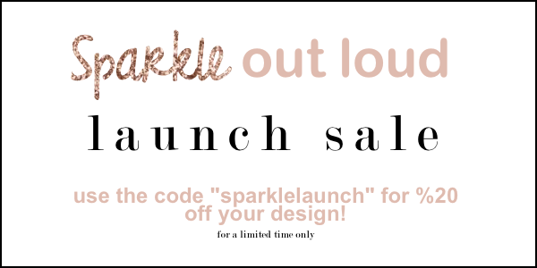 Sparkle Out Loud Design, blog design, web design, branding