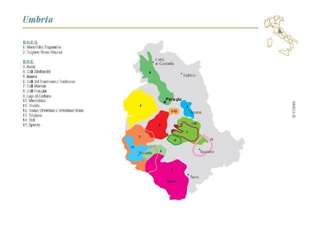 wine map of Umbria