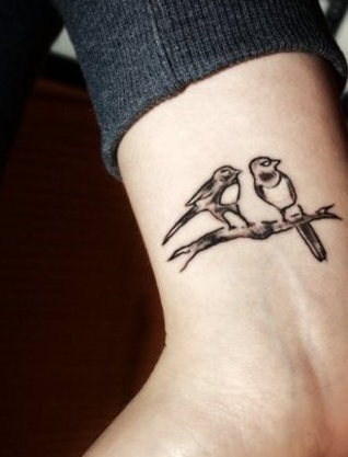 Tatto tattoos on wrist for girls designs for Bird tattoos on wrist