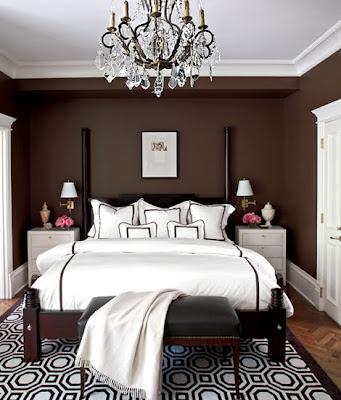 habitación marrón chocolate