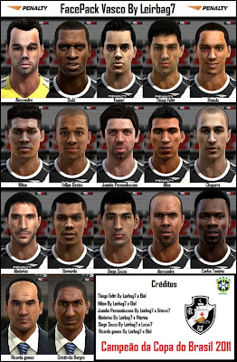 Mega+Facepack+do+Vasco+da+Gama PES 2012: Mega Facepack Vasco da Gama