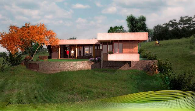 Buganville casas de campo bresciani proyectos for Modelos de patios para casas