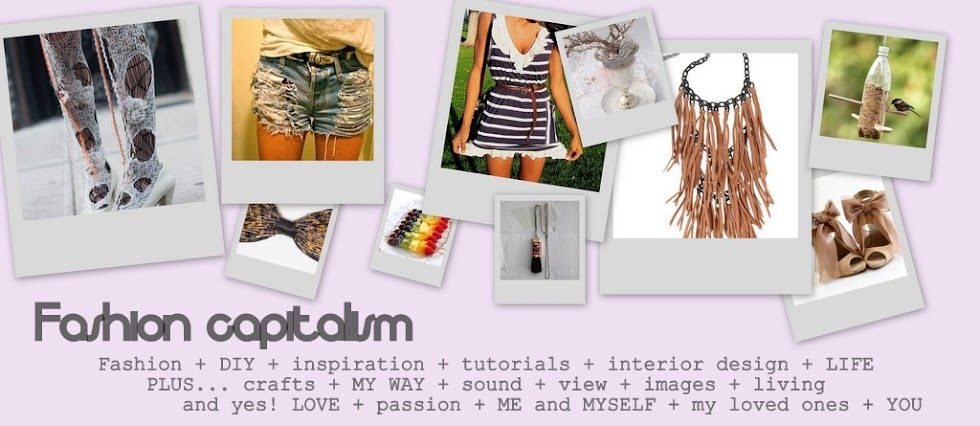 fashion capitalism - DIY - crafts - free tutorials - living - design ideas - blogging