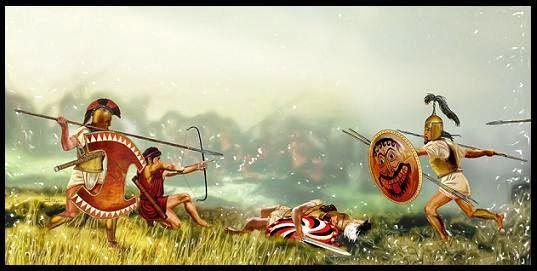 Esparta, Lacedemonia, lacedemonio, guerra mesenia, espartano, Creta, Corinto, Argos, Sición, hoplita espartano, arquero cretense, mesenia, mundo antiguo, más allá de Pangea, batalla, historia griega, espartanos contra mesenios, hoplita mesenio, ospray