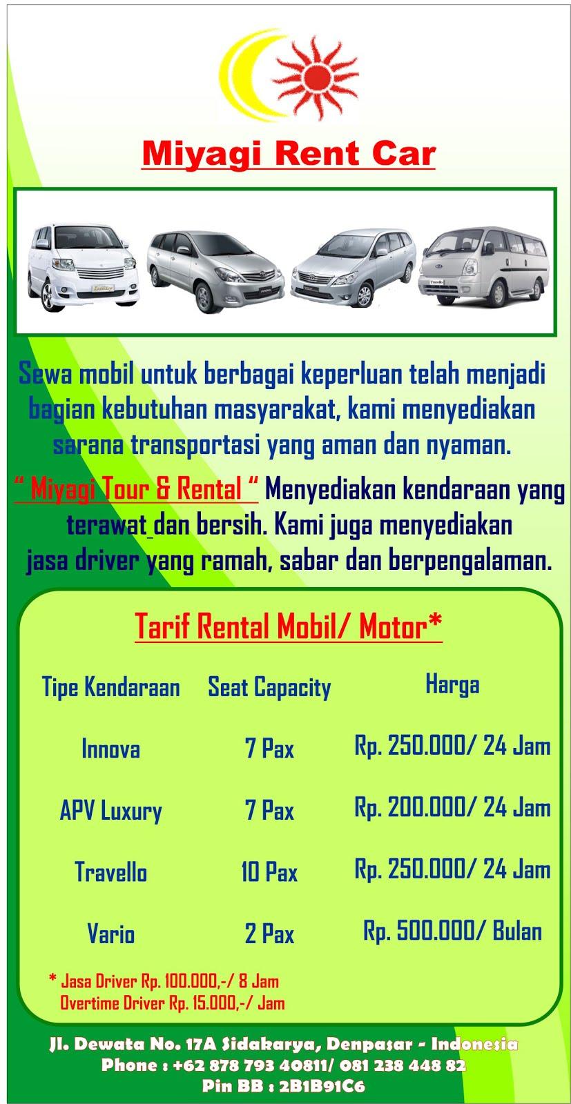 Pilihan Tranport di Bali