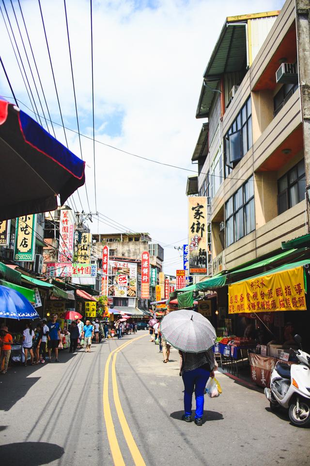 city street in Beipu, Taiwan