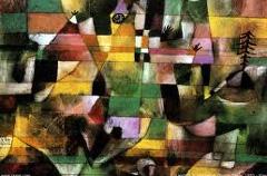 fragmento de una pintura de Paul Klee