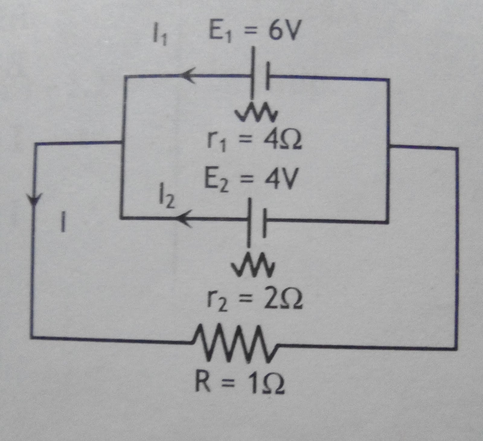 Electrical Circuit Solved Numericals Physics Answers Resistances In Series Circuits The As Shown Figurecalculate Current Through Each Cell And Resistance R