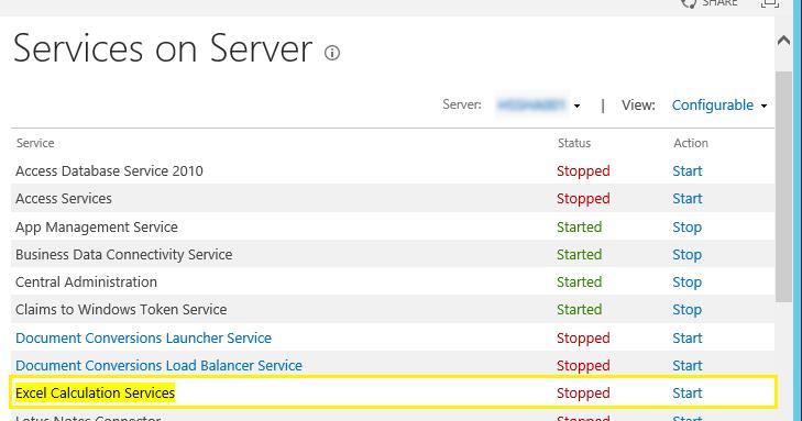 how to start sharepoint server