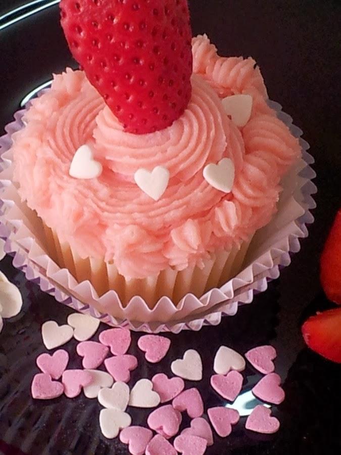 cupcakes de helado de fresa
