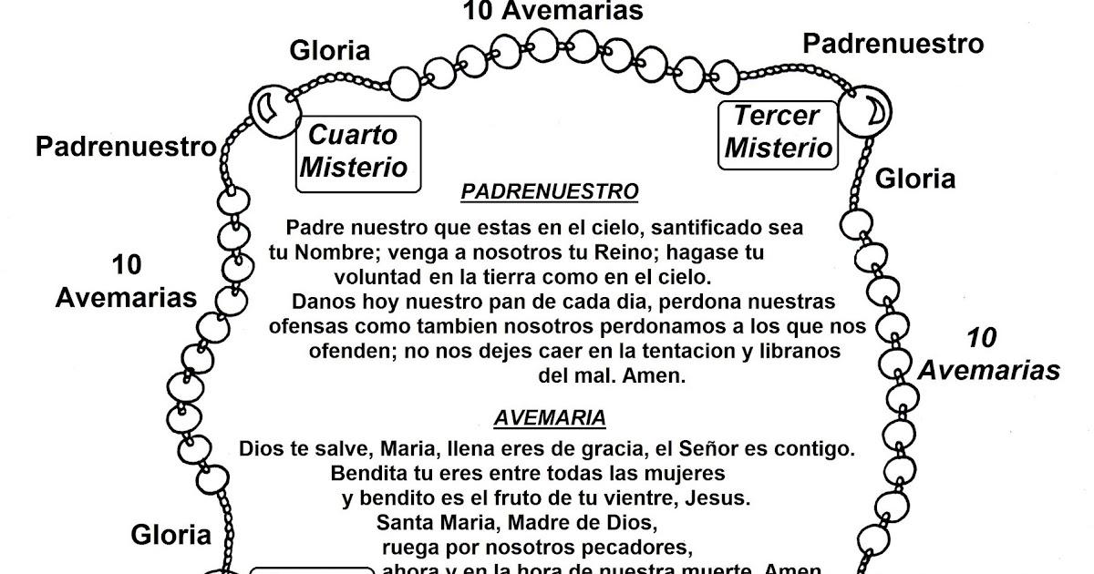 Rezar Rosario Para Colorear | www.picswe.com