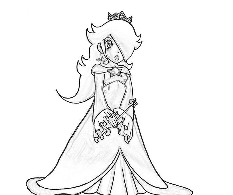 Rosalina Mario Coloring Pages. Rosalina Cute Coloring Pages  Art Paper