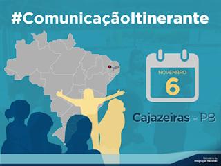 Cidade da PB recebe Comunicação Itinerante do Projeto São Francisco