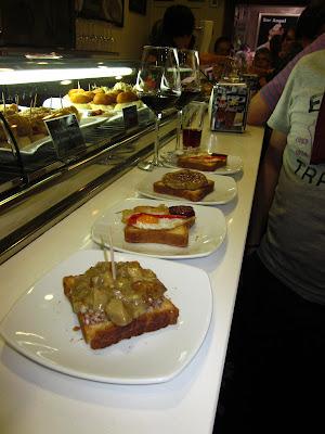 Tapas sin gluten en Bar Donosti de Logroño