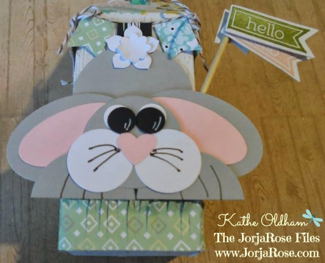 The jorjarose files create with kathe for thursday 20th for thursdays class we made an easter bunny punch art easter egg box and a gift card holder negle Images