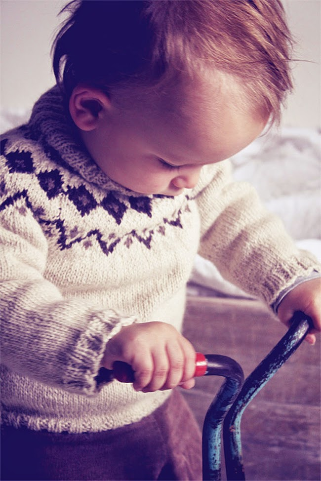 Scandinavian style baby knitwear by Hambro & Miller for autumn 2014