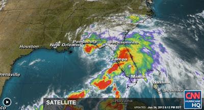 Tormenta Debby genera dor tornados en Florida