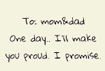 To mom & dad (۳º̩̩́_º̩̩̀)۳