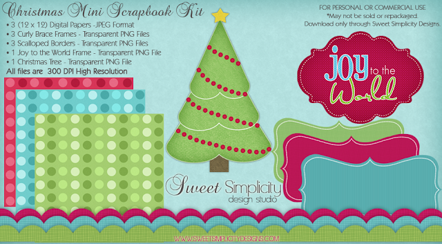 christmas scrapbook kit