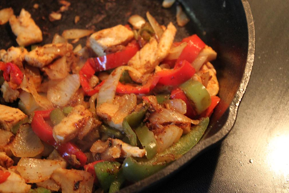 Chicken Fajitas ~ Sweating Beauty