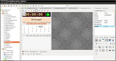 screenshot IDE gambas3