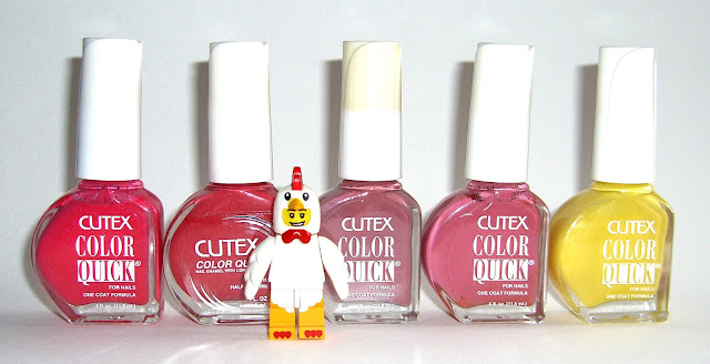 Cutex - Blushing Rose, Glazed Berry, Mauvish, Carmel Creme, Slime