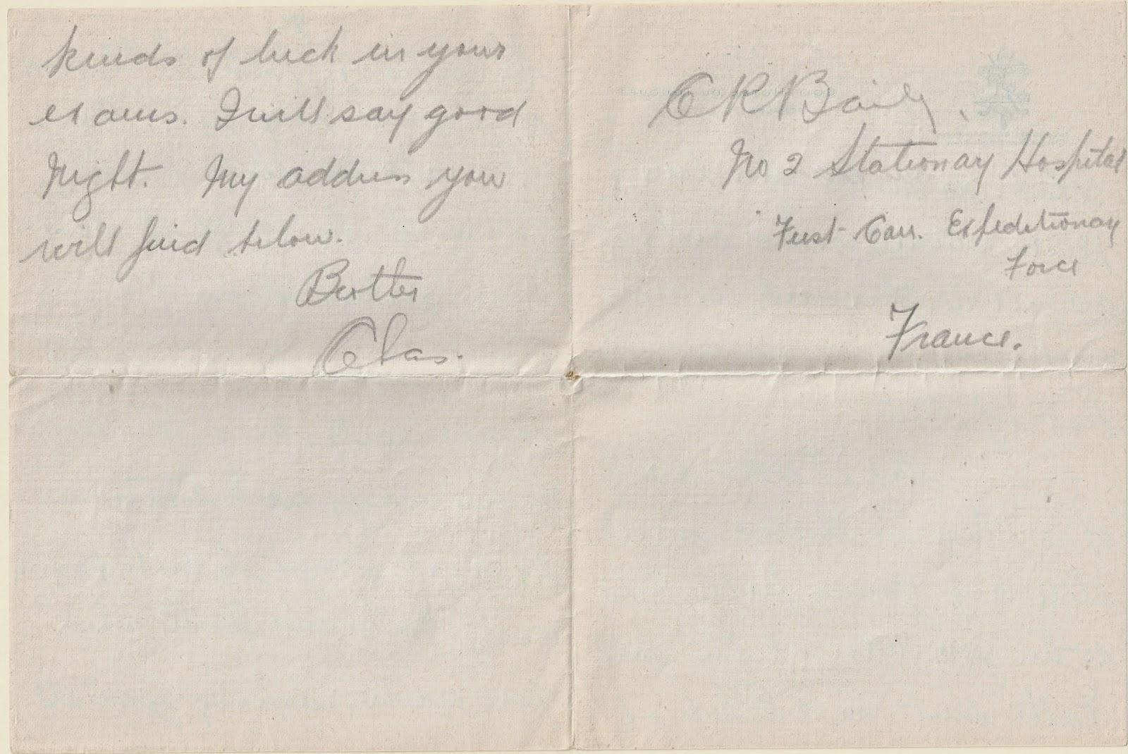 Letter Home Nov 30 1914