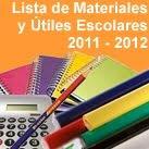 Lista de Utiles Ciclo Escolar 2011 2012