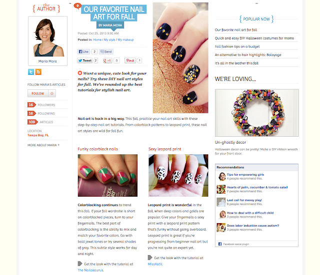 blog feature allparenting nails nailart fall