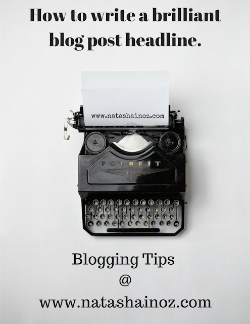 Blogging Tips via www.natashainoz.com
