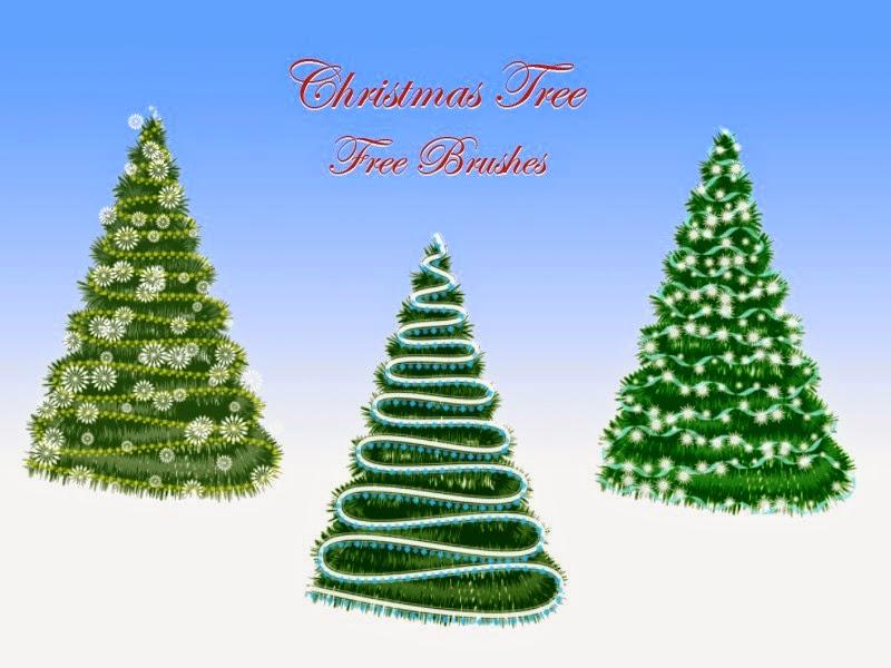 Pinceles de rboles de navidad gratis blog de dise o - Diseno de arboles de navidad ...