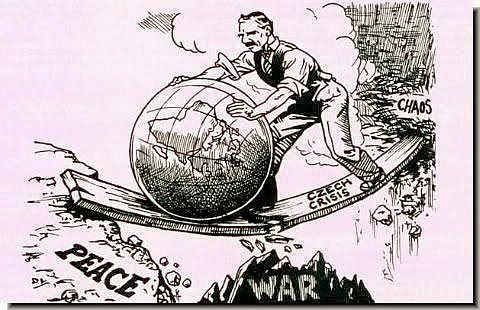 Chamberlain Europe Peace cartoon
