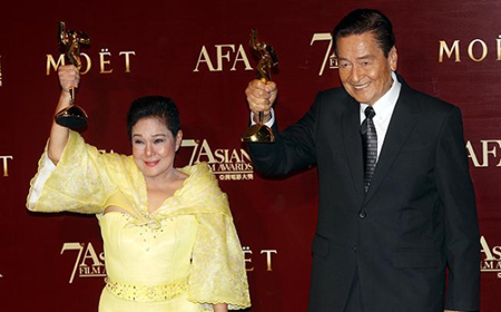 Nora Aunor, Eddie Garcia Win Best Actress and Best Actor, respectively at the 7th Asian Film Awards (2013)