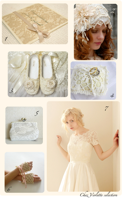 wedding selection - lace and cream by Chez Violette