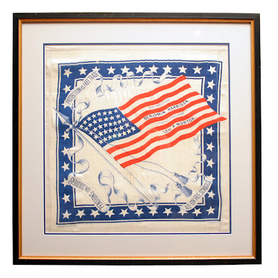 Harrison and Morton Political Bandana 1888