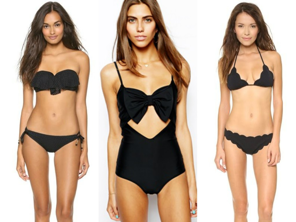 summer 2014 black bathing suits