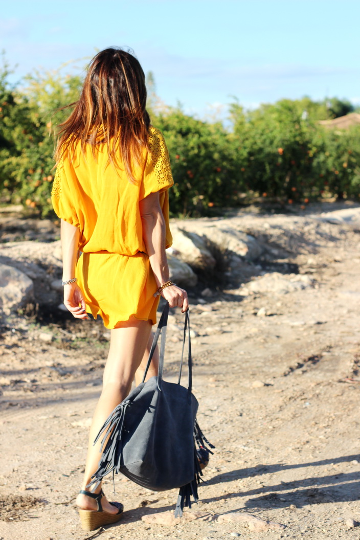 Yellow dress - Streetstyle - Feler sunnies - Fashion blogger
