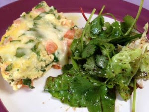 Slow Cooker Spinach, Tomato, and Mozzarella Frittata
