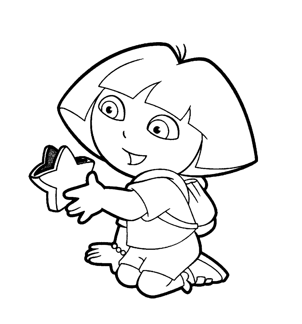 dora coloring pages to print see a picture